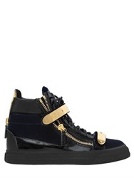Giuseppe Zanotti 20Mm Bangle Velvet And Leather Sneakers