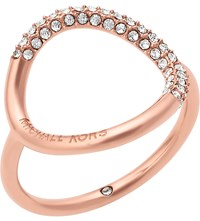 Michael Kors Brilliance Rose Gold Toned Pave Ring