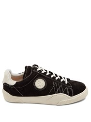 Eytys Wave Rough Low Top Suede Trainers Black