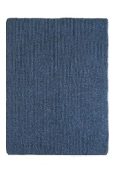 Topshop Soft Knitted Scarf Navy Blue