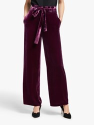 Boden Haverhill Velvet Trousers Beetroot