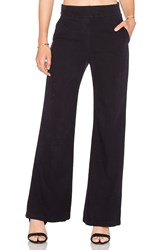 Enza Costa Silk Noil Wide Leg Trouser Blue