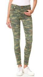 True Religion Halle Mid Rise Super Skinny Jeans Distressed Camo