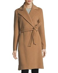 Cinzia Rocca Trench Coat With V Cut Fold Beige