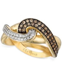Le Vian Chocolatier Diamond Knot Ring 1 2 Ct. T.W. In 14K Gold Yellow Gold