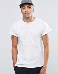 New Look T Shirt In White With Spray Wash Print White