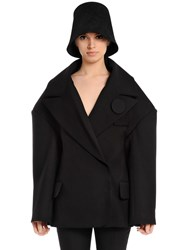 Jacquemus Oversized Double Breasted Wool Peacoat