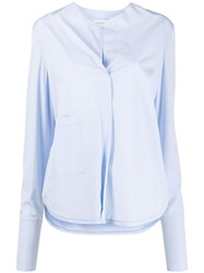 Christian Wijnants Collarless Poplin Shirt 60
