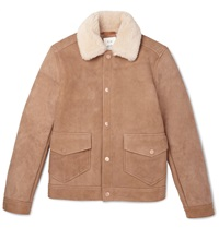 Billy Reid Dunavant Shearling Jacket Brown