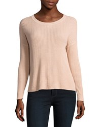 Lord And Taylor Petite Ribbed Hi Lotop Beige