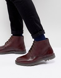 Kg By Kurt Geiger Lace Up Boots Red