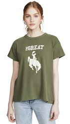The Great Great. Boxy Cowgirl Tee Army