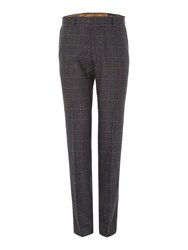 Peter Werth N.1 Flat Fronted Trousers Charcoal