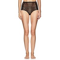 Land Of Women French Dot Highwaisted Briefs Black