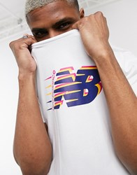 New Balance Wild Pack T Shirt In White And Red