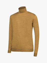 Oscar Jacobson Cole Roll Neck Jumper Yellow