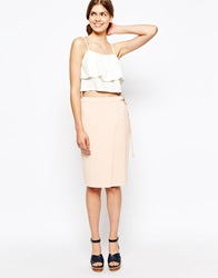 The Laden Showroom X Even Vintage Skirt With D Ring Detail Nude