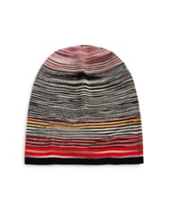 Missoni Striped Wool Blend Hat Red Multi