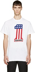 Dsquared White Long Cool Twisted T Shirt