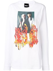 P.A.M. Perks And Mini Pam Front Printed Sweatshirt White