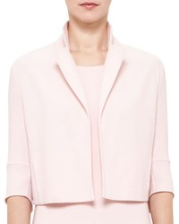 Akris Emma 3 4 Sleeve Short Wool Cocoon Jacket Flamingo