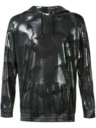 Emiliano Rinaldi Metallic Palms Hoodie Black