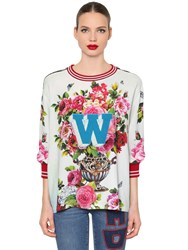 Dolce And Gabbana Floral Cady Sweatshirt Multicolor