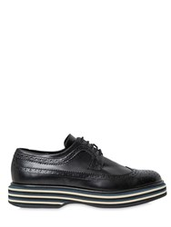 Paloma Barcelo 40Mm Brogue Leather Lace Up Shoes