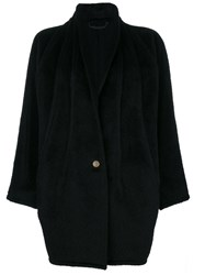 Versace Vintage Shawl Collar Coat Black