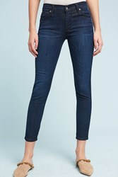 Anthropologie James Jeans Twiggy Mid Rise Skinny Ankle Petite Jeans Denim Dark
