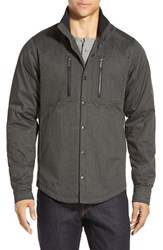Men's Nau Utility Work Shirt Caviar Heather