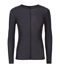 Koral Spike Mesh Top Female Black