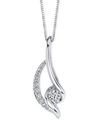 Sirena Diamond Twist Pendant Necklace 3 8 Ct. T.W. In 14K White Gold