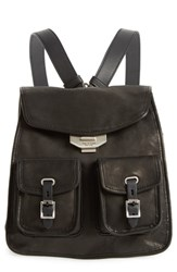 Rag And Bone Small Leather Field Backpack Black
