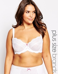 Marie Meili Curves Nanette Underwired Bra White