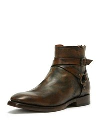 Frye Men's Weston Leather Harness Boot Brown