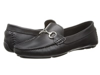 Massimo Matteo Driver With Bit Black Bison Shiny Silver Women's Moccasin Shoes