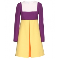 Valentino Colour Block Crepe Dress Avorio Plum Sun Carrot