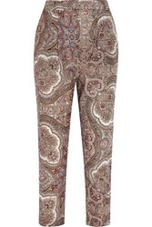 Zimmermann Epoque Paisley Print Cotton Voile Tapered Pants Multi