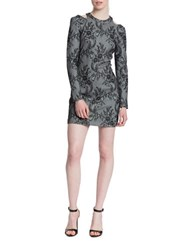 Plenty By Tracy Reese Long Sleeve Floral Sheath Dress Grey