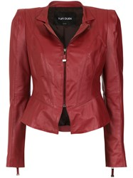 Tufi Duek Fitted Waist Jacket Red