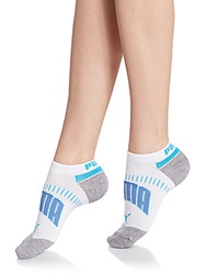 Puma Assorted Cotton Blend Ankle Socks Pack Of 3 Blue White