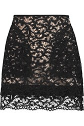 See By Chloe Cotton Blend Lace Mini Skirt Black