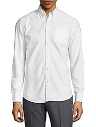 Report Collection Long Sleeve Button Down Shirt White Multi