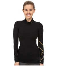 2Xu Alpine Mcs Thermal Compression Top Black Gold Women's Clothing
