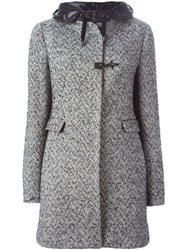 Fay Herringbone Coat Grey