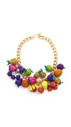 Mercedes Salazar Tuti Fruti Chain Necklace Multi
