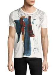 Nudie Jeans Anders Graphic Tee Off White