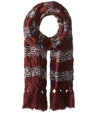 Vans Wrap Me Up Scarf Port Royale Scarves Burgundy