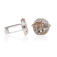 Lc Collection Antique Waltham Watch Movement Cufflinks Must Have Essential Silver